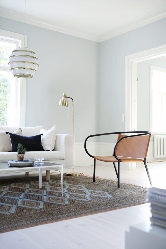 Contemporary living room, itämainen matto, Artek Mehiläispesä