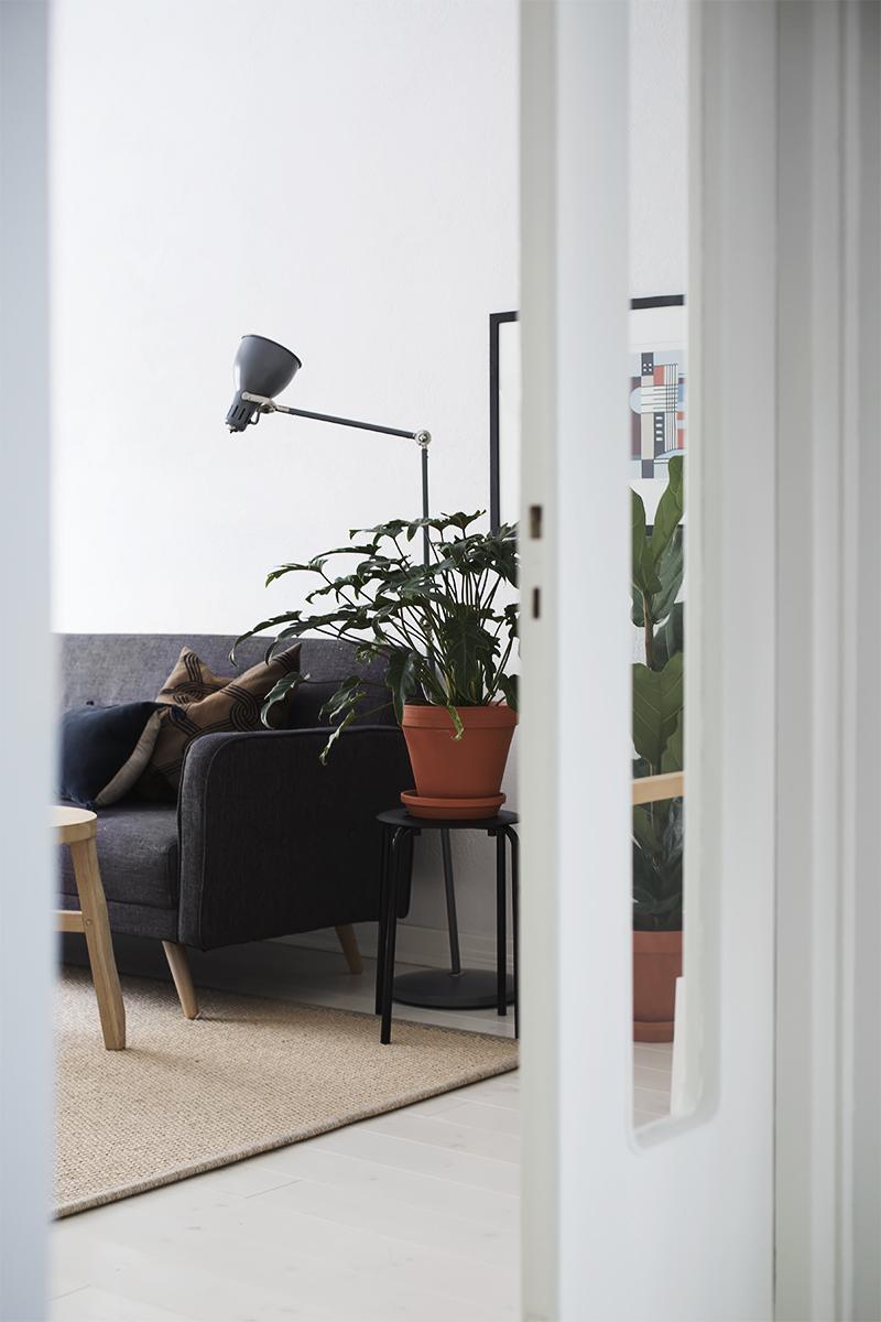 Vihreää olohuoneessa