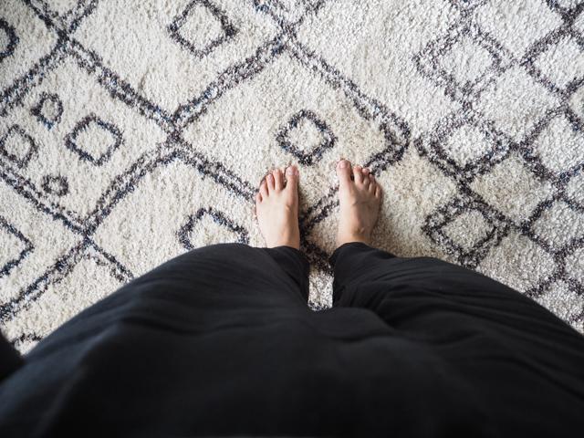 Olohuoneen uusi matto