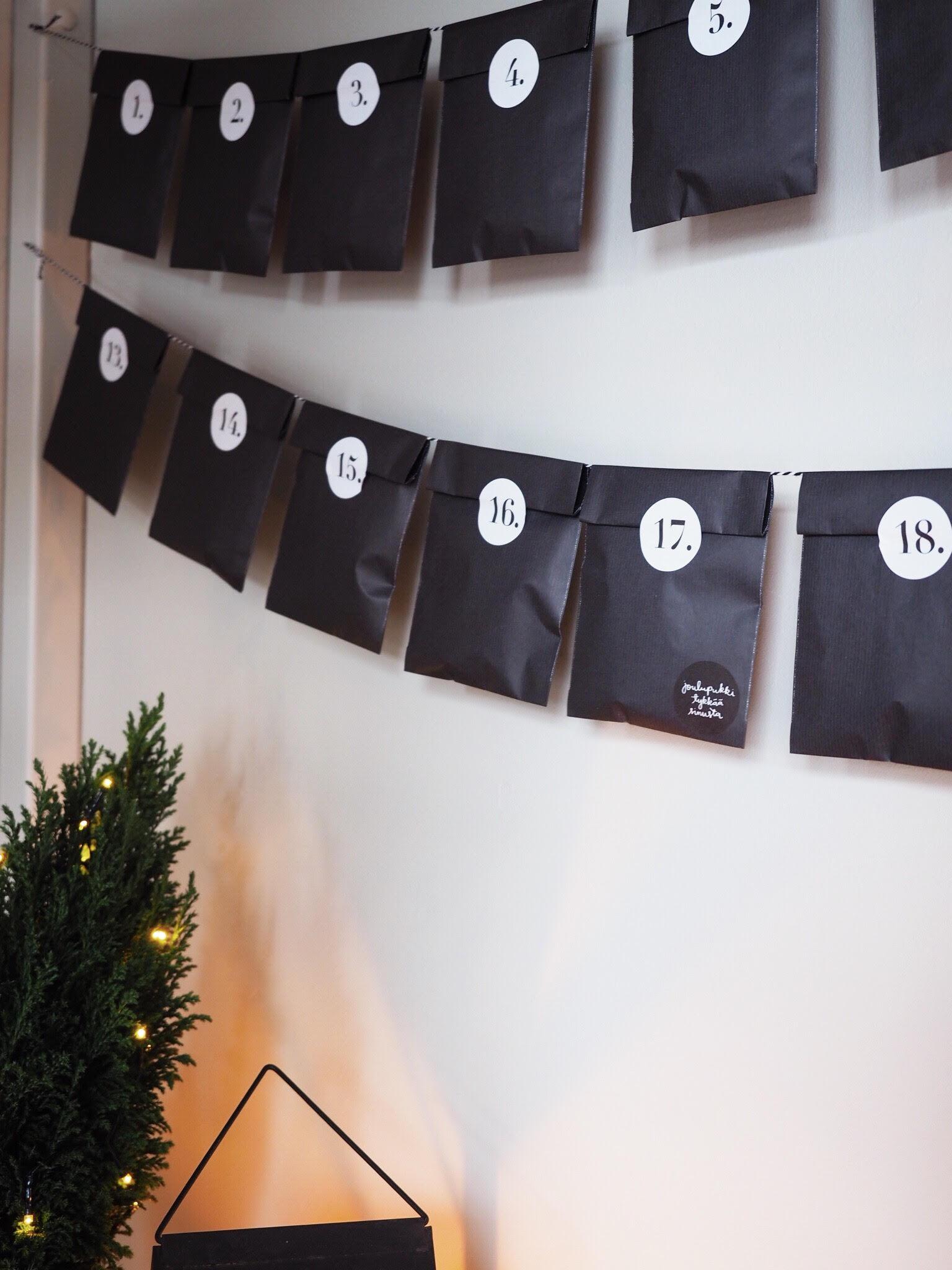 Super-helppo DIY joulukalenteri