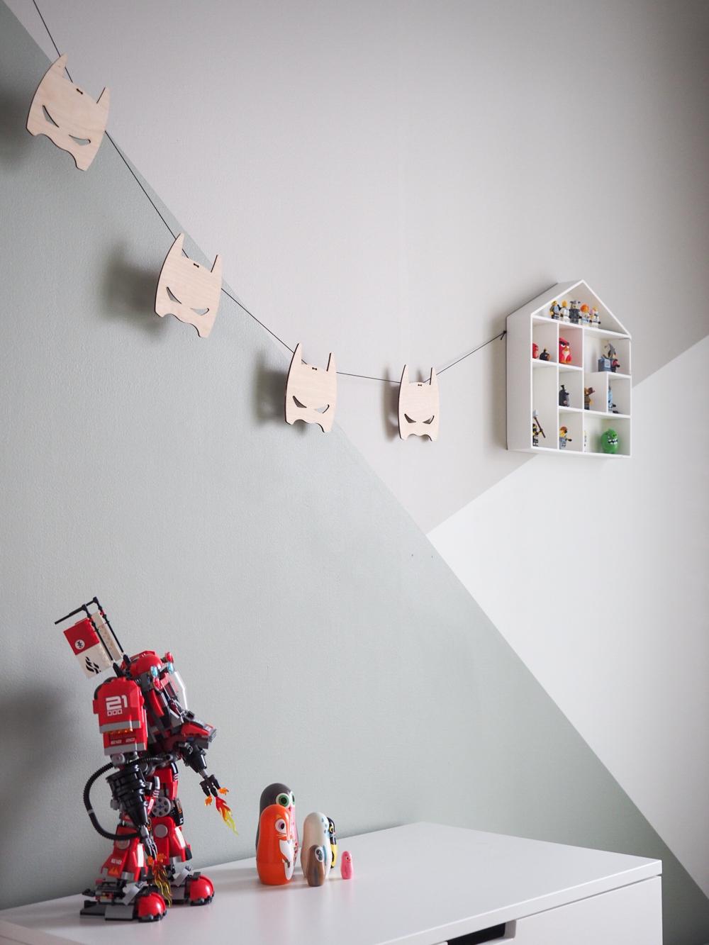 Leikki-ikäisten poikien huoneen sisustus