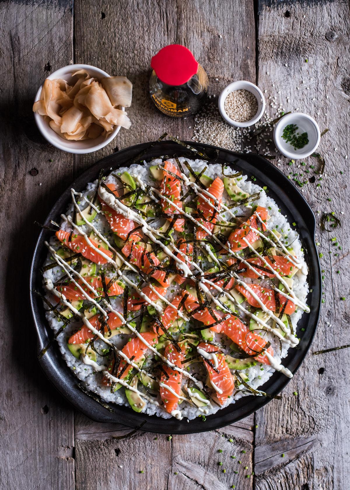 Sushipizza – sushia nopeasti koko porukalle!