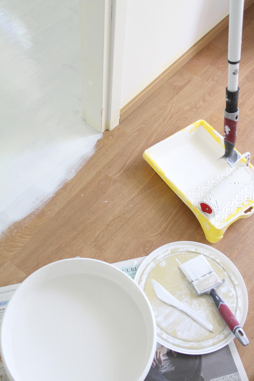 laminaattilattian maalaus, laminaatin maalaaminen